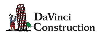 DaVinci Construction Logo